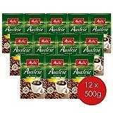 Melitta Gemahlener Röstkaffee, Filterkaffee, kräftig mit rundem Aroma, Stärke 4, Auslese...