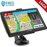 Jimwey GPS Navi Navigation für Auto LKW PKW 7 Zoll 16GB Lebenslang Kostenloses Kartenupdate...
