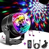 OMERIL Discokugel LED Party Lampe Musikgesteuert OMERIL Disco Lichteffekte Discolicht mit 4M USB...