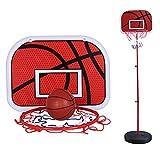 Indoor Sicher Basketball Set mit Metallfelge und Basketball Stehen, Hängen Basketball-Board mit...