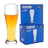 Van Well 12er Set Bavaria Weizenbierglser klar   Bierglas geeicht bei 0.5L   Weizenglas  ...
