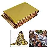 OFKPO 10 Stck Rettungsdecke/Rettungsfolie,Emergency Blanket Erste Hilfe Decke(Gold/Silber)