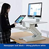 VBARV Hebe-Stehpult-breite Plattform, höhenverstellbarer Stehpult, Abnehmbarer Tastaturablage,...