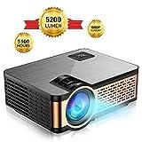 Mini Beamer Projektor, FLYLAND 5200 Lumen Tragbarer Mini Beamer mit Full HD 1080P Aufhngefunktion,...