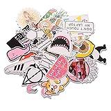 EKKONG Aufkleber, 46 Stück Dekorative Aufkleber, Wasserdicht Vinyl Stickers Decals für Auto...