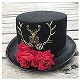 XYAL-Hats Xingyue Aile Top Hüte & Cowboy-Mützen, Neue handgemachte Steampunk Hut mit Blumen Bühne...