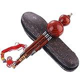 BLKykll Handgemachte Hulusi, Chinesische Bambus Hulusi Ethnische Musikinstrument Tonart C Mit Fall...