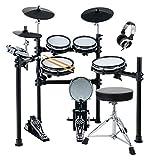 XDrum DD-530 Mesh Heads E-Drum SET mit Hocker und Kopfhörer (elektronisches Schlagzeug,...