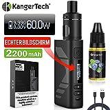 E Zigarette Starter Set Kangertech 60W 2200mAh Subox Mini V2 OLED Screen Verdampfer 2mL NCOCC...