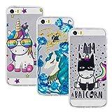Vogu'SaNa Kompatible fr Handyhlle iPhone SE/5S Hlle Case Cover Silikon Transparent Tasche...