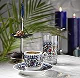 Kütahya Porzellan TOPKAPI Edles Mokka, Espressoservice bestehend aus 6 Tassen und Untertassen aus...