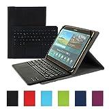 Besmall Bluetooth Tastatur mit Touchpad Deutsch Layout QWERTZ mit PU Leder Schutz Hülle mit...