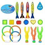 ASTARC Spielzeug, Unterwasser-Schwimmen, Tauchspielzeug, Set mit 17 Teilen, Seetangen,...