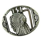 dailymall Vintage Silber Indische Gürtelschnalle Ureinwohner Western Cowboy Schnalle