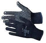 Jah 5030 Baumwolle/Polyester Strickhandschuh 12 Paar Noppen mittelschwer,blau, Gr. 11