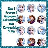 Unbekannt Tortenaufleger Geburtstag Frozen, Muffin & Keksdeko