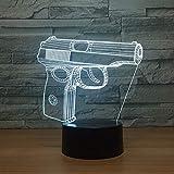 3D Illusion Nachtlicht 7 farbe Led Vision kinder Eine Spielzeugpistole Form Schalter Baby Schlaf...