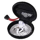 Hama Kopfhörer Tasche für In Ear Ohrhörer (robustes Hardcase, Netz-Innentasche, Karabinerhaken,...
