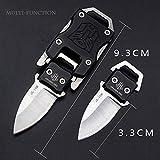 NedFoss Messer Outdoor Mini Klein EDC Taschenmesser Taschenwerkzeug Grtelmesser (schwarz)
