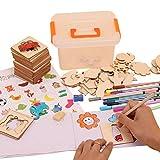 Ggdoo Kinder-Spielzeug aus Holz für Kinder Zeichnung Vorlage Graffiti Coloring Painting...