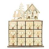 ypypiaol Weihnachten Haus Elch Kalender Geschenk Schmuck Halter Aufbewahrungsbox Kleinigkeiten...
