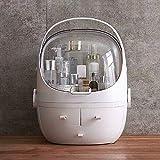 NMYANXU Quellia Aufbewahrungsbox für Kosmetik-Schubladen, tragbar, staubdicht, transparent, rund,...