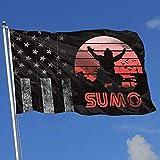 Elaine-Shop Outdoor Flaggen Abgenutzte USA Flagge Retro Sumo 4 * 6 Ft Flagge für Wohnkultur Sport...
