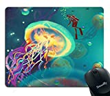 Best Mouse Pad Custom,Colorful Jellyfish Mouse Pad Art Print Personality Desings Gaming Mouse...