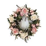 LinTimes Trkranz Wandkranz, handgefertigte Kunstblumendeko fr Zuhause, Parties, Tren, Hochzeiten