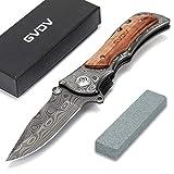 GVDV Taschenmesser mit Spitzer - Klappmesser 7Cr17 Edelstahl-Taktikmesser, Outdoor Survival Messer...