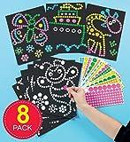 Baker Ross Bastelset - Bilder mit Klebepunkten - Aufkleber für Kinder zum Abziehen und Auftragen...