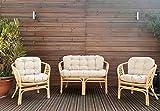 Mayaadi Home Gartenbankauflagen 6 teiliges Sitzkissen-Set Sitzpolster für Gartengarnitur Set Steve...
