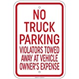 "HSSS Schild aus Aluminium mit Aufschrift ""No Truck Parking Violators Will Be Towed"", 20,3 x 30,5..."