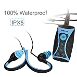 Walkercam IPX8 Wasserdichter MP3 Player mit FM Radio, 8 GB Musik Player mit Clip und Wasserdichten...