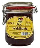 Echter Deutscher Imkerhonig - Honig vom Imker aus Bayern (Waldhonig 1000g) im wiederverwendbarem...