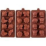 STARUBY Silikon Backform Shokoladeformen DIY Backen 3er/Set Formen 24 Köstlichkeiten...