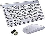 Zghzsc Drahtlose Tastatur und Maus, 2.4G Tastatur und Maus Combo Set kompakte Full-Size-Quiet DPI...