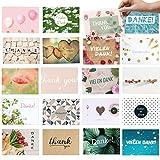 20 moderne Dankeskarten, als Dankeschön für kleine und große Dinge: Vielseitige und individuelle...