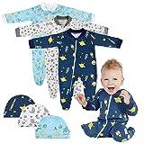 Lictin Strampler Baby Strampler Babykleidung Strampler Junge Schlafstrampler Baumwolle mit Baby...