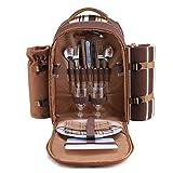 apollo walker Picknickrucksack fr 2 Personen Picknick Rucksack Hamper Khltasche mit Geschirr Set &...