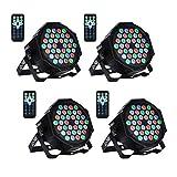 UKing LED Bühnenlicht Par Scheinwerfer DMX512 RGBW Bühnenbeleuchtung mit Drahtlose Fernbedienung...