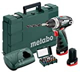 Metabo 600080920 Akku-Bohrschrauber klein PowerMaxx BS Basic Set 10.8V, 2x 2Ah Li-Ion Akkus, inklu....