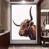 Geiqianjiumai HD Print Highland Cow Tier Leinwand Poster Moderne Dekoration Bild Home Wohnzimmer...