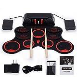 Joy Lectronic Drum Set, Tragbares MIDI Electronic Drum Set, Mit 9 Silicon Durm Pad USB-Kabel...
