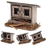 JujubeZAO Puppenhaus Hühnerstall, 1/12 Puppenhaus aus Holz Simulation Hühnerstall Miniatur...