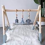 HB.YE Babyspielzeug aus Holz Puzzle gym Spieltrapez inkl. Anhänger Babygymnastik aktiv Spielzeug...