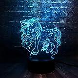 XHYYD Neuartige 3D Stimmung Licht Einhorn 7 Farben Wiederaufladbare Usb Mini Lava Raumdekoration...