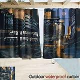 Wild One Curtain Pergola-Vorhang-Futuristische Digital-Farben-Science...