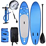 YUEBO 305cm Aufblasbares Sup Stand-up Paddel Board 15cm Dick, iSUP Paddle Board mit Pumpe + 3-TLG...