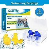 WOTEK Ohrstpsel Schwimmen 2 Paar wasserdichte Wiederverwendbare silikon ohrstpsel, weiches Silikon,...